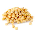 Pile of chickpeas against white background Royalty Free Stock Photo