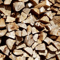 Pile of chopped fire wood Royalty Free Stock Photo