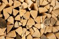 Pile of Chopped Logs Royalty Free Stock Image