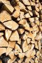 Pile of chopped wooden logs Royalty Free Stock Photos