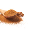 Pile of cinnamon powder Royalty Free Stock Photo