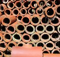 A Pile of Clay Pipes Royalty Free Stock Photo