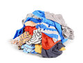 Pile of clothes isolated Royalty Free Stock Photo