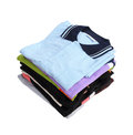 Pile of clothes on white background with clipping path Royalty Free Stock Images