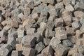Pile of cobblestones Royalty Free Stock Photo