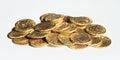 Pile of coins - Prague groschen Royalty Free Stock Photo