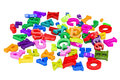 Pile of colored letters, 3D rendering