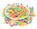 A pile or colorful cereal Stock Photo