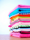 Pile of colorful clothes Royalty Free Stock Image