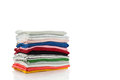Pile of colorful clothes and Beautiful summer isolated on white Royalty Free Stock Photo