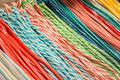 Pile of colorful fruit laces candy detail a ties would make an ideal place for any sweet background related work Royalty Free Stock Photo