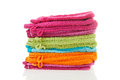 Pile of colorful washclothes Stock Photography