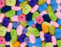 Pile of colorful wool Royalty Free Stock Photo