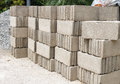 Pile of concrete block with rock Stock Images
