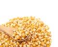 Pile of corn kernels isolated Royalty Free Stock Photo