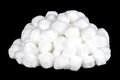Pile of Cotton Balls on a Black Background Royalty Free Stock Photo