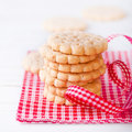 Pile of crunchy biscuits Royalty Free Stock Image