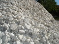 Pile of crushed stone Royalty Free Stock Photo
