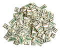 Pile de dollars Photos stock