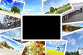 Pile des photos de nature Image stock