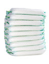 Pile of diapers on white background isolated Stock Images