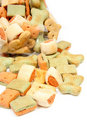Pile of dog cookies Royalty Free Stock Image