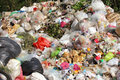 Pile of domestic garbage pollution environment Royalty Free Stock Photos