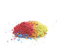 Pile of dusted paint pigment isolated