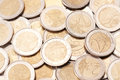 A pile of Euro coins Royalty Free Stock Photo