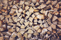Pile of firewood vintage effect Royalty Free Stock Images