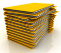 Pile of folders Stock Images
