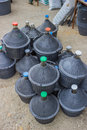 Pile of gallons for water and wine 3 Royalty Free Stock Photo