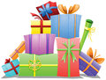Pile of Gift Boxes Royalty Free Stock Photo