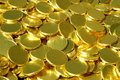 Pile of gold coins Royalty Free Stock Photo