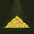 Pile of golden sand