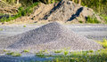 Pile of gravel stone Royalty Free Stock Photo