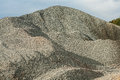 Pile of gravel view on the Stock Image