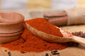 Pile of ground paprika Royalty Free Stock Photo