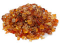 Pile of Gum Arabic over white Royalty Free Stock Photo