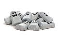 Pile of halloween chocolate candy ghosts over white a background Royalty Free Stock Image