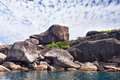 Pile of huge rocks the picturesque shores of magical similan islands Stock Images
