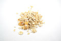 Pile of instant oatmeal Royalty Free Stock Photo