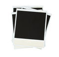 Pile instant photo isolated white background Royalty Free Stock Image