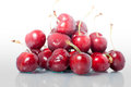 Pile of irresistible cherries beautiful and delicious red globe Stock Photos