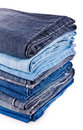 Pile of jeans Royalty Free Stock Photography