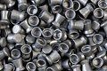 Pile of lead air-gun pellets Royalty Free Stock Photography