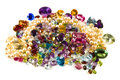 Pile of loose gemstones Royalty Free Stock Images