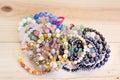 PIle Lucky Stone Bracelets Royalty Free Stock Photo