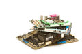Pile of mainboard computer,electronic trash Royalty Free Stock Photo