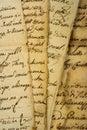 Pile of manuscripts Royalty Free Stock Photo